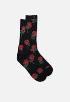 Factorie - Retro ribbed socks - black