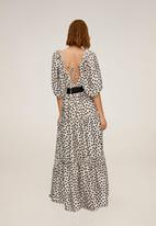 MANGO - Dress toscana - white & black