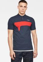 G-Star RAW - Cut & sewn gr slim fit polo - blue