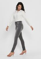 Jacqueline de Yong - Cathinka long sleeve top - white