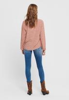 Jacqueline de Yong - Starr life long sleeve top woven - rust