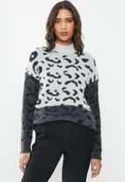 ONLY - Eliz long sleeve high neck pullover - grey