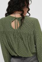 Jacqueline de Yong - Cathinka long sleeve top - khaki