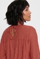 Jacqueline de Yong - Cathinka long sleeve top - red