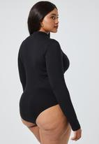 Superbalist - 2 Pack turtle neck bodysuit - black & white