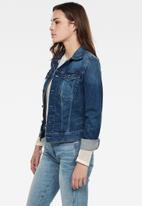 G-Star RAW - 3301 slim denim jacket - faded stone