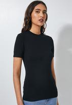 Superbalist - 2 Pack fitted crew neck tees -  black & white
