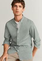MANGO - Vichy shirt - khaki