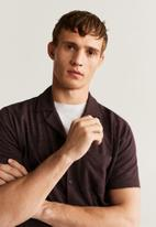 MANGO - Asier shirt - burgundy