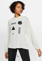 Nike - Icon clash fleece hoodie - off white