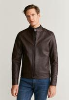 MANGO - Brakew jacket - brown