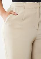 Glamorous - Plus wide leg trouser - stone