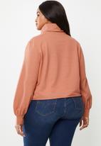 Glamorous - Plus high neck sweat - rust