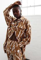 Me&B - Utility shacket - brown & white