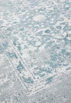 Sixth Floor - Antique printed rug - blue