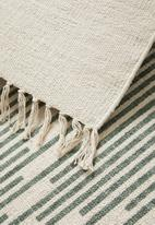 Sixth Floor - Sage printed rug - green