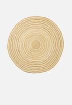 Sixth Floor - Kyra round jute rug - natural & white
