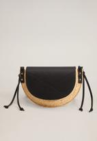 MANGO - Capelo bag - black & neutral