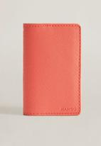 MANGO - Lole card holder - coral red
