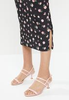 Missguided - Maternity puff sleeve floral print maxi dress - multi