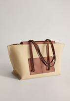 MANGO - Elba bag - medium brown