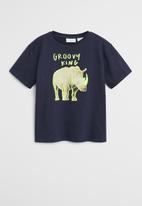 MANGO - T-shirt groovy - navy