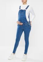 Missguided - Maternity denim dunagree - blue
