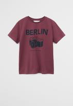 MANGO - T-shirt cities - garnet
