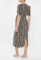 Glamorous - Maternity daisy midi tea dress - multi