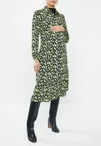 Glamorous - Maternity mini wrap dress - multi