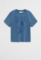 MANGO - T-shirt king - blue