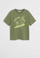 MANGO - T-shirt king - khaki
