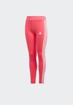 adidas Performance - 3 stripe tights - pink & white