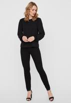 Vero Moda - Maria long sleeve top - black