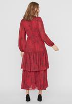 Vero Moda - Cassie long sleeve layer maxi dress vip - jazzy cassie