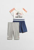 adidas Performance - Disney Minnie Mouse summer set - white & blue