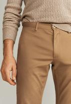 MANGO - Borne6 trousers - medium brown