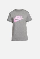 Nike - Basic futura tee - grey & pink