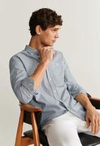 MANGO - Kodak shirt - navy