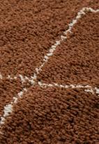 Fotakis - Royal nomadic shaggy rug - brick beige