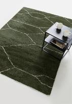 Fotakis - Royal nomadic shaggy rug - jungle green & beige
