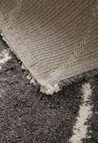 Fotakis - Royal nomadic shaggy rug - grey triangles