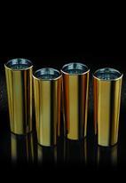 Kitchen Craft - Gold finish tall shot glasses