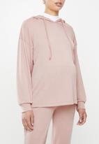 Superbalist - Maternity Ribbed hoodie - pink