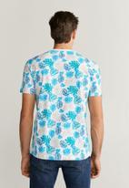 MANGO - Leaves T-shirt - multi