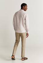 MANGO - Bolar shirt - neutral