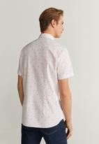MANGO - Dot-h shirt - white