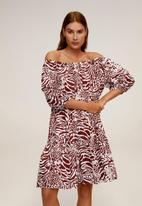 MANGO - Alba dress - dark red