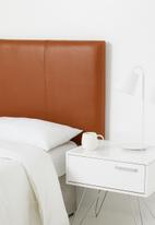 Sixth Floor - Saddle stitch headboard - tan