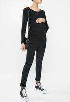 Cotton On - Maternity henley long sleeve top - black